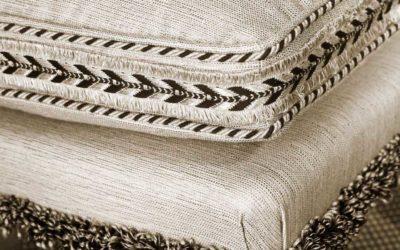 Tipos de pasamanería para decorar muebles