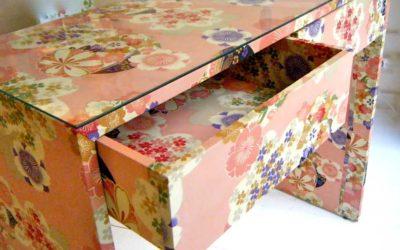 Cómo quitar el papel pintado de muebles forrados