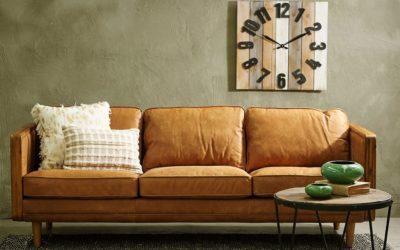 ¿Cómo limpiar un sofá de piel blanco?